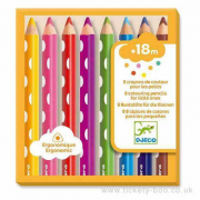 8 matite colorate per i più piccoli