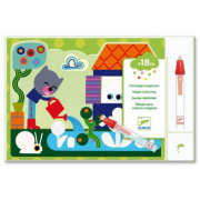 Libro da colorare magico per bambini nascosto nel giardino