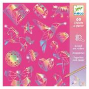 CARTE DA GRATTARE stickers DIAMANTE animali e simboli DJECO