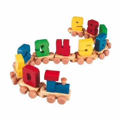 Trenino in legno con numeri giochi giocattoli - Trenino di legno ikea ...