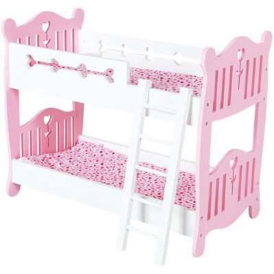 Letto A Castello Barbie.Letto A Castello In Legno Per Bambole Giochi Giocattoli