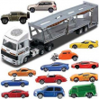 Camion bisarca con 13 veicoli