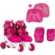Pattini roller evolutivi 30-33 rosa