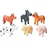 Animali fattoria bebe' in gomma
