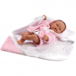 Bebè da bagno con accappatoio