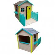 Casetta in legno con terrazza