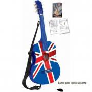 Chitarra in legno bandiera UK
