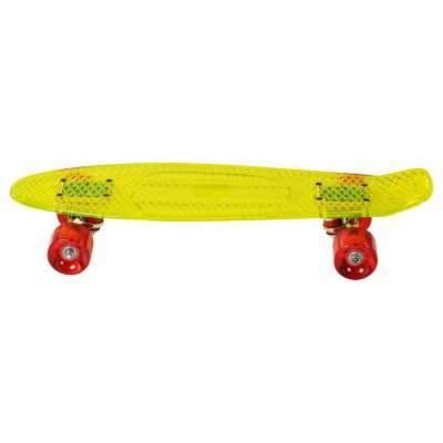 Skateboard crystal giallo