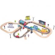 Trenino in legno circuito urbano 84 pezzi