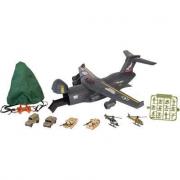 Aereo cargo militare con accessori