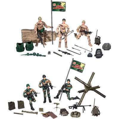 Set soldati con accessori
