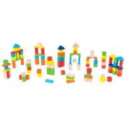 100 cubi in legno in secchiello