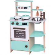 Cucina multifunzione in legno azzurra