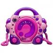 Karaoke CD rosa con microfoni
