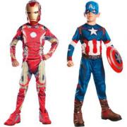 Costume Iron man+Capitan America 5/6 anni