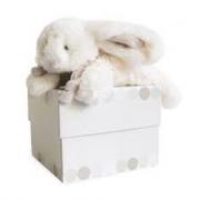 Coniglietto fiocco beige cm. 16 Doudou et compagnie