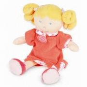 Bambola consolatrice e trapunta abito castagna marrone parma