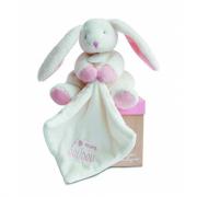 Doudou coniglietto rosa