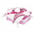 Doudou Doudou Et Compagnie Topolino piatto perlato bianco e rosa