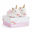 Pantofole con sonaglio unicorno