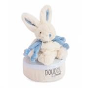 Coniglietto fiocco azzurro cm. 18 Doudou et compagnie