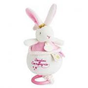 Coniglietto rosa e bianco