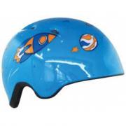 Casco bici blu