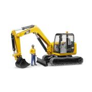 Bruder 02466 - Cat mini escavatore con operaio