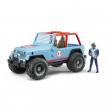 Bruder 02541 - Jeep cross country blu con pilota