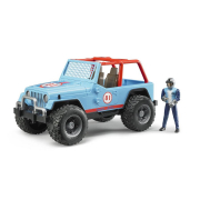 Bruder 02541 - Jeep cross country blu con pilota