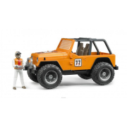 Bruder 02542 - Jeep cross country racer arancio con pilota