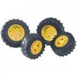 Bruder 03314 - Doppie ruote cerchi gialli