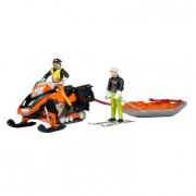 Bruder 63100 - Motoslitta con figura soccorso e sciatore