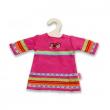 Vestito rosa a righe per bambole cm. 35/45
