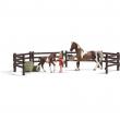 Set da gioco e cibo per cavalli Schleich 21049