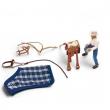 Accessori equitazione con figura uomo 40188 Schleich