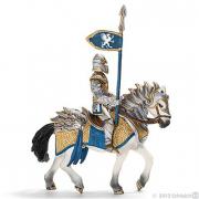 Cavaliere grifone a cavallo con lancia