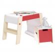Tavolino da disegno/sgabello, incluso rotolo carta