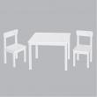 Set tavolo con 2 sedie in legno bianco