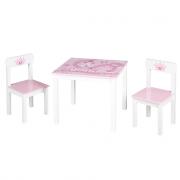 Set tavolo con sedie in legno