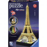 Puzzle 3d night edition Torre eiffel