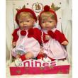 Bambole gemelle bionde cm. 35