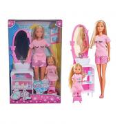 Simba Toys bambola Steffi Love bed time con Evi