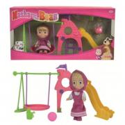 Bambola Masha e Orso con parco giochi
