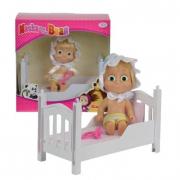 Bambola Masha con lettino