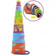 Torre da impilare colorata