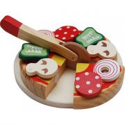 Pizza in legno da tagliare
