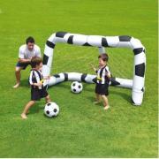 Porta da calcio gonfiabile design pallone