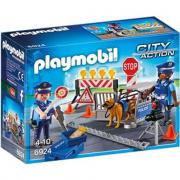 Playmobil City Action Posto Di Blocco Della Polizia