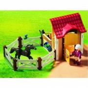 Playmobil Grande Maneggio (6934). Stalla con Cavallo Arabo